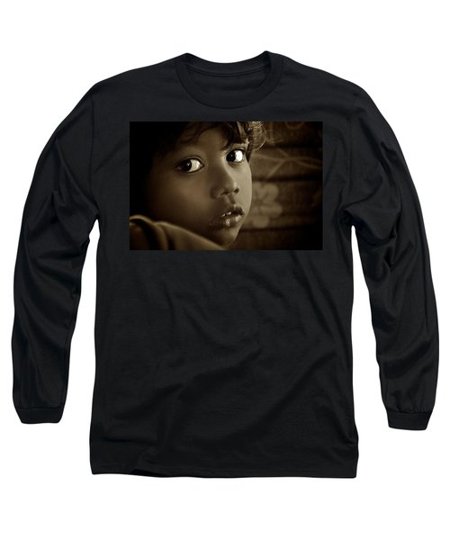 She Just Stared Long Sleeve T-Shirt by Valerie Rosen