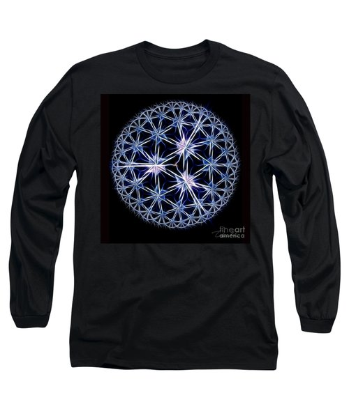 Snowflakes Long Sleeve T-Shirt by Danuta Bennett