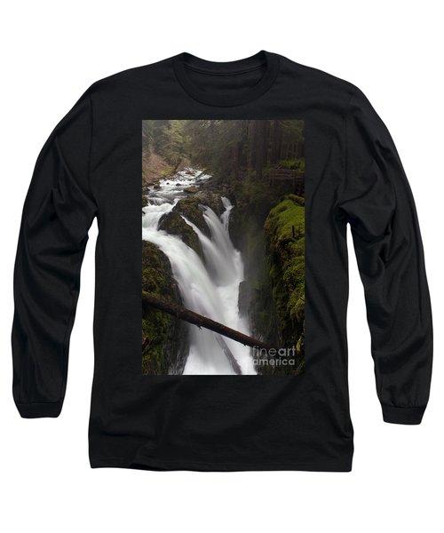 Sol Duc Falls Long Sleeve T-Shirt by Mike Reid