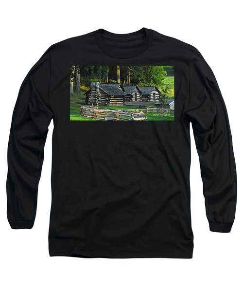 Soldiers Quarters At Valley Forge Long Sleeve T-Shirt by Cindy Manero