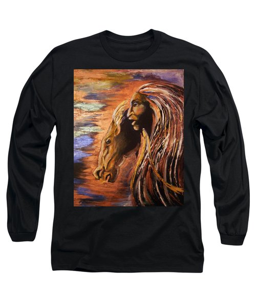 Soul Of Wild Horse Long Sleeve T-Shirt