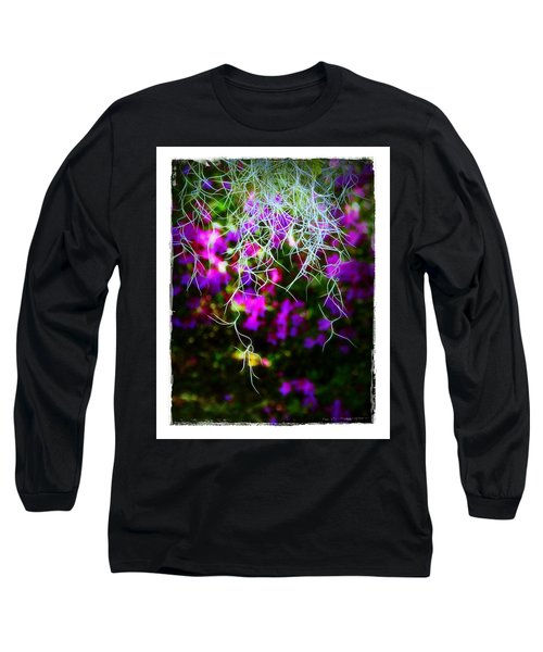 Spanish Moss And Azaleas Long Sleeve T-Shirt by Judi Bagwell
