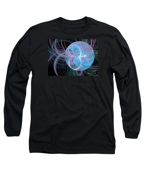 Long Sleeve T-Shirt featuring the digital art Spherical Symphony by Kim Sy Ok