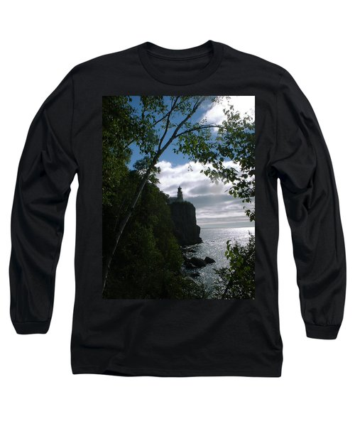 Long Sleeve T-Shirt featuring the photograph Split Rock II by Bonfire Photography