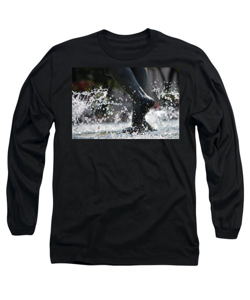 Long Sleeve T-Shirt featuring the photograph Sploosh by Stephanie Nuttall