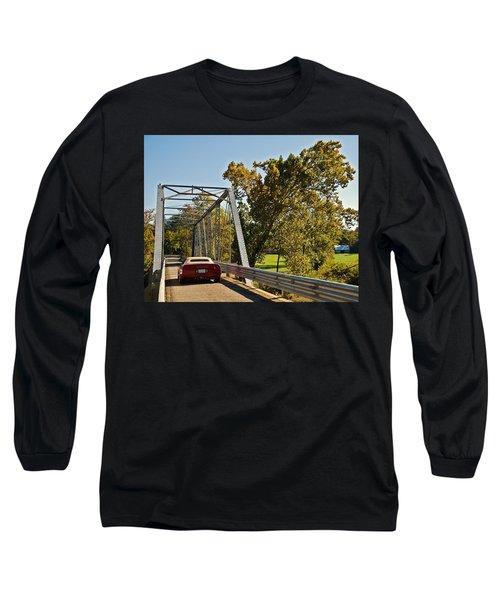 Long Sleeve T-Shirt featuring the photograph Sports Car On A Bridge by Susan Leggett