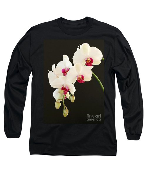 Spray Of White Orchids Long Sleeve T-Shirt