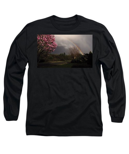 Long Sleeve T-Shirt featuring the photograph Spring Rainbow by Katie Wing Vigil