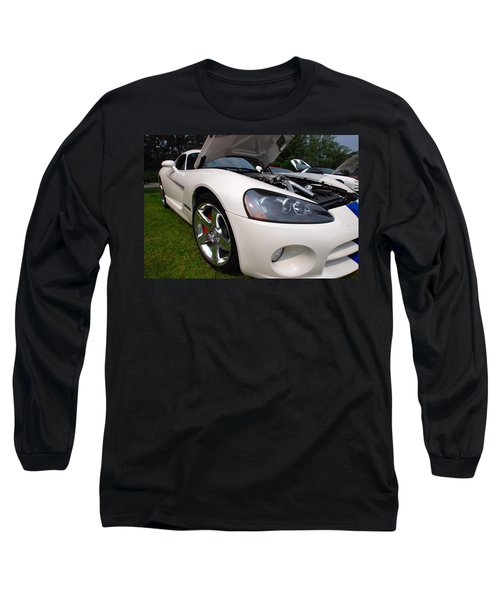 Long Sleeve T-Shirt featuring the pyrography Ssss 2009 Dodge Viper by John Schneider