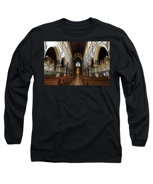 St Pauls Cathedral Long Sleeve T-Shirt by Yew Kwang
