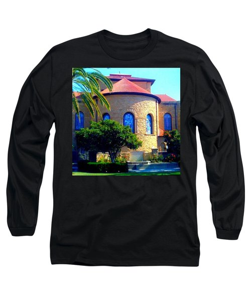 Stanford University Chapel - Palo Alto Ca Long Sleeve T-Shirt by Anna Porter