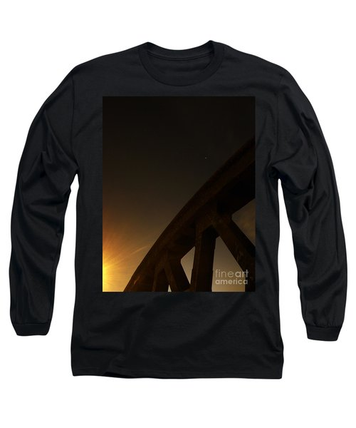 Long Sleeve T-Shirt featuring the photograph Starry Night On Sunset Bridge by Andy Prendy