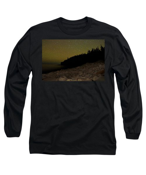 Stars Over Otter Cliffs Long Sleeve T-Shirt by Brent L Ander