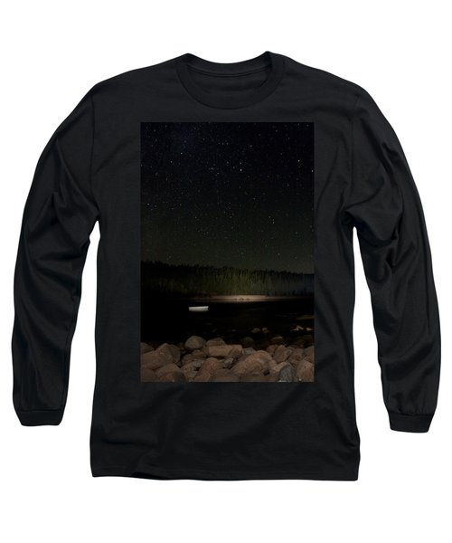 Long Sleeve T-Shirt featuring the photograph Stars Over Otter Cove by Brent L Ander