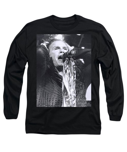Long Sleeve T-Shirt featuring the photograph Steven Tyler Rocks It by Traci Cottingham