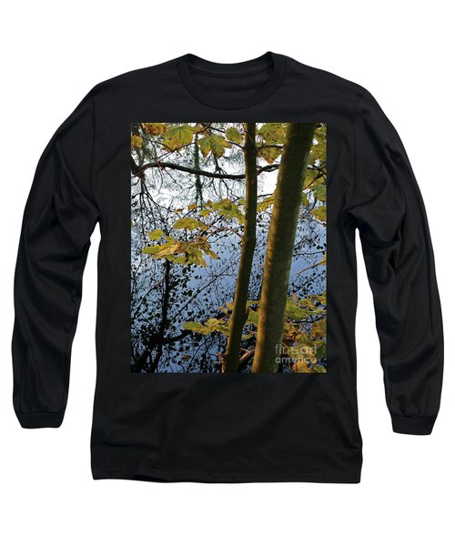 Still Waters In The Fall Long Sleeve T-Shirt by Andy Prendy