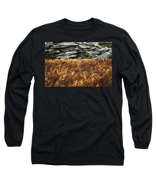 Stone Wall And Fern Long Sleeve T-Shirt