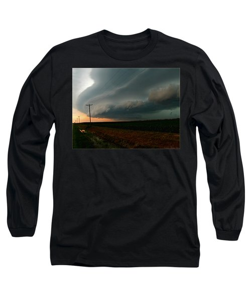 Long Sleeve T-Shirt featuring the photograph Storm Front by Debbie Portwood