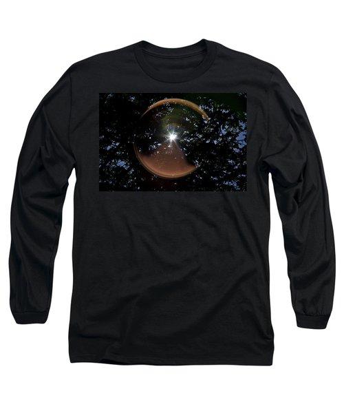 Long Sleeve T-Shirt featuring the photograph Sun Flair by Maj Seda