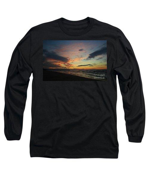 Long Sleeve T-Shirt featuring the photograph Sundown  by Barbara McMahon