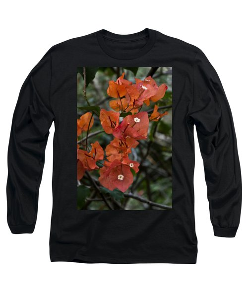 Long Sleeve T-Shirt featuring the photograph Sundown Orange by Steven Sparks