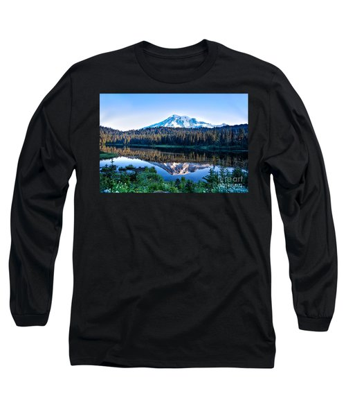 Sunrise At Reflection Lake Long Sleeve T-Shirt by Ronald Lutz