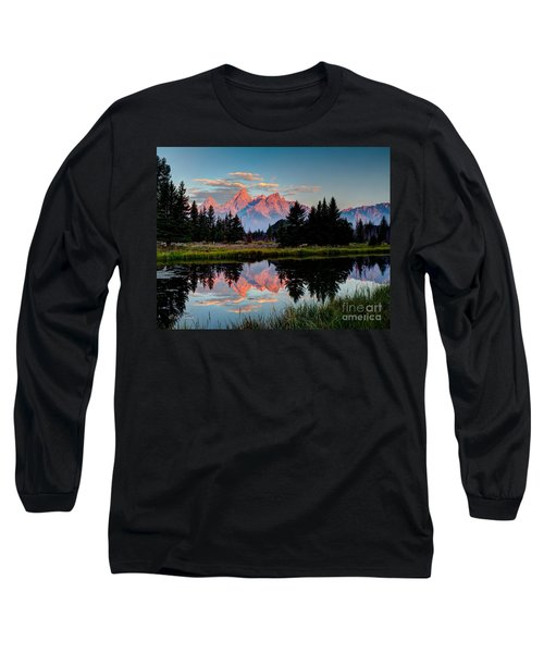 Sunrise On The Tetons Long Sleeve T-Shirt