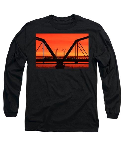 Sunrise Walnut Street Bridge Long Sleeve T-Shirt