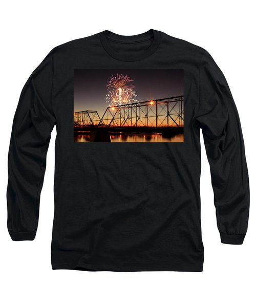 Sunset And Fireworks Long Sleeve T-Shirt