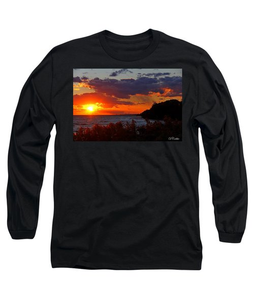 Long Sleeve T-Shirt featuring the photograph Sunset By The Beach by Davandra Cribbie