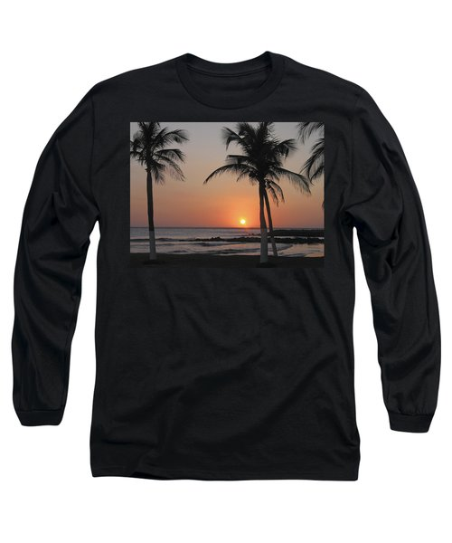 Long Sleeve T-Shirt featuring the photograph Sunset by David Gleeson