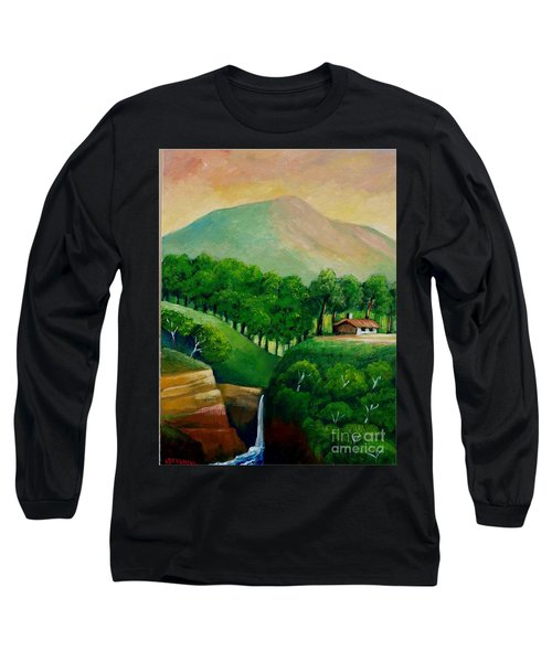 Sunset In The Mountain Long Sleeve T-Shirt