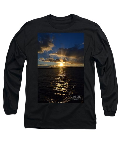 Sunset Over Winnepesaukee Long Sleeve T-Shirt by Kevin Fortier