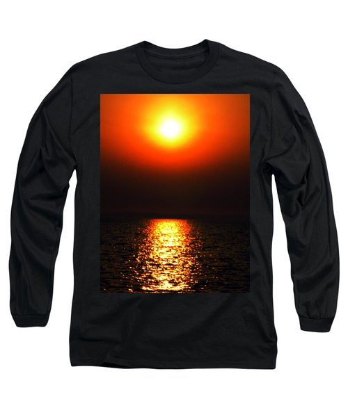 Long Sleeve T-Shirt featuring the photograph sunset Santorini Greece by Colette V Hera  Guggenheim