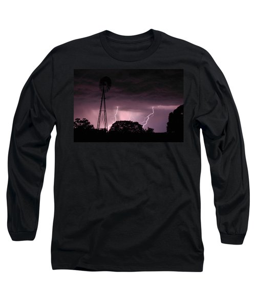 Super Storm Long Sleeve T-Shirt by Linda Unger