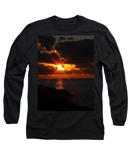 Long Sleeve T-Shirt featuring the photograph Superior Sunset by Bonfire Photography