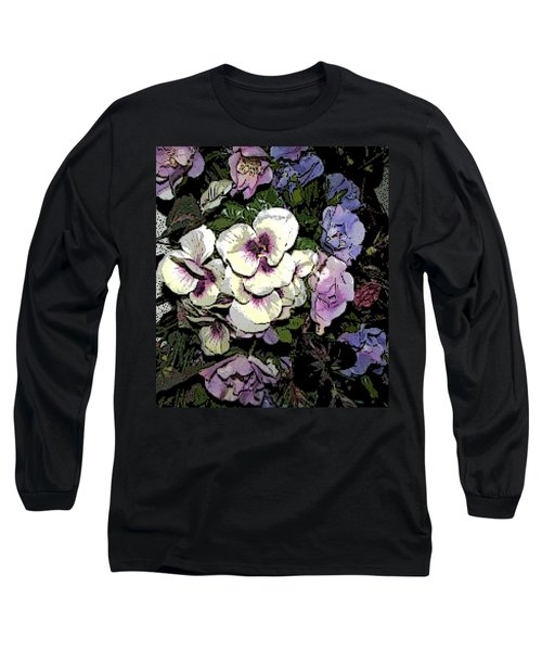 Long Sleeve T-Shirt featuring the photograph Surrounding Pansies by Pamela Hyde Wilson