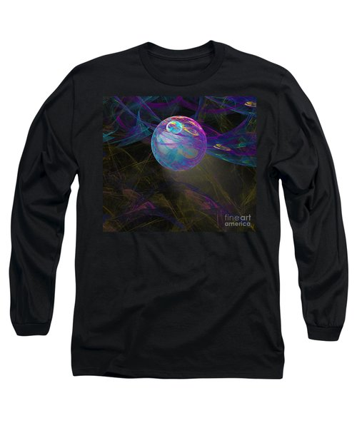 Long Sleeve T-Shirt featuring the digital art Suspension by Victoria Harrington