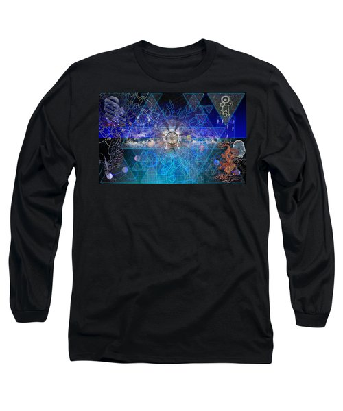 Synesthetic Dreamscape Long Sleeve T-Shirt by Kenneth Armand Johnson
