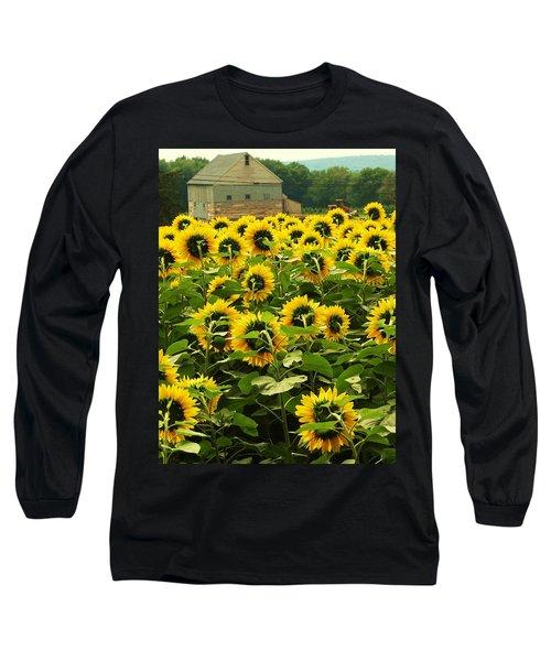 Tall Sunflowers Long Sleeve T-Shirt