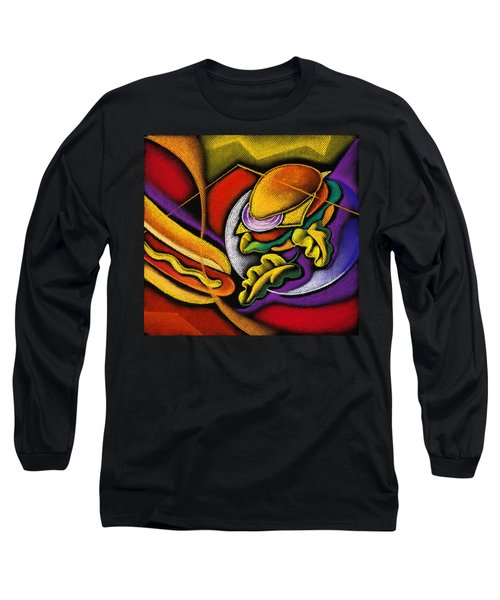 Lunchtime Long Sleeve T-Shirt by Leon Zernitsky