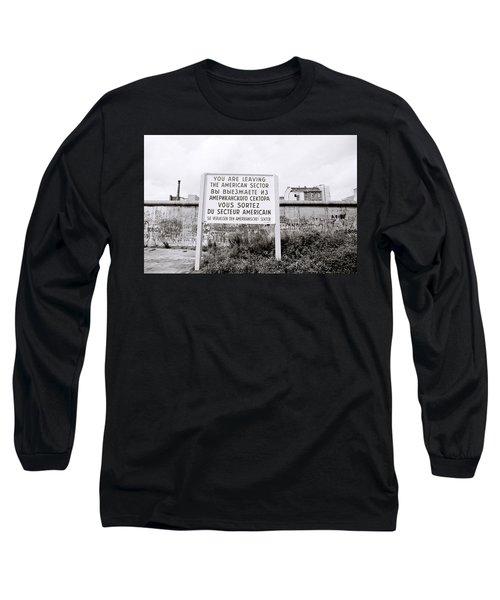 Berlin Wall American Sector Long Sleeve T-Shirt