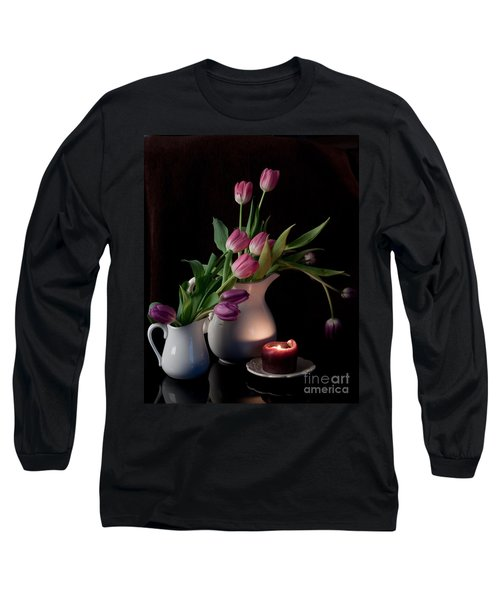 Long Sleeve T-Shirt featuring the photograph The Beauty Of Tulips by Sherry Hallemeier