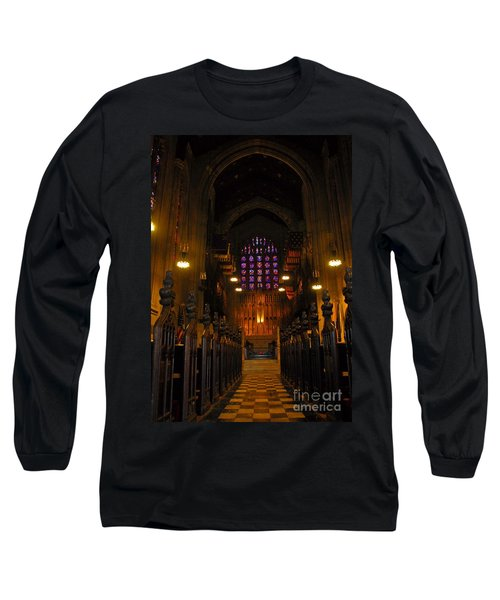 The Chapel At Valley Forge Park Long Sleeve T-Shirt by Cindy Manero