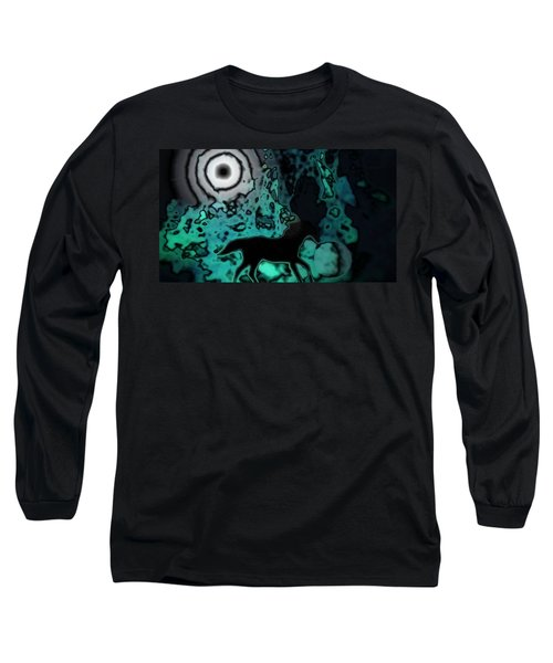 Long Sleeve T-Shirt featuring the photograph The Eclipsed Horse by Jessica Shelton