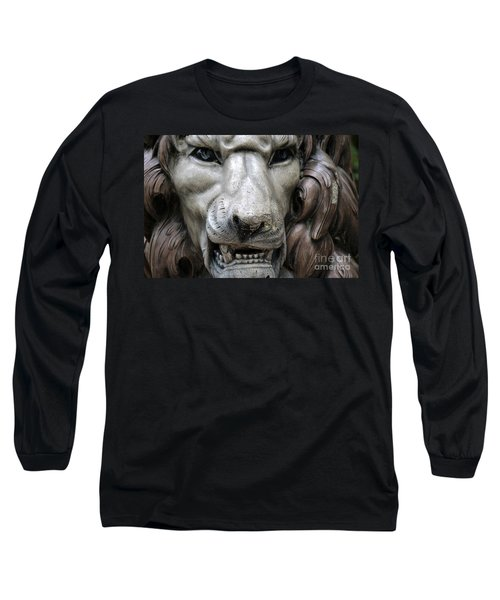Long Sleeve T-Shirt featuring the photograph The Fierce Lion  by Kathy  White