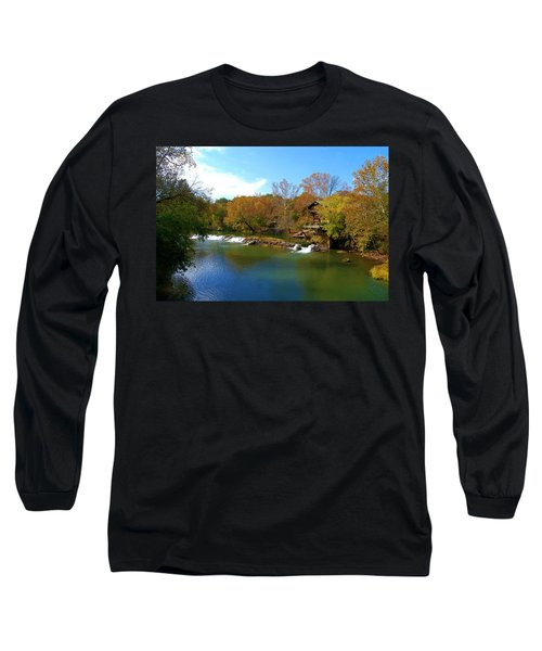 Long Sleeve T-Shirt featuring the photograph The Grist Big River by Peggy Franz