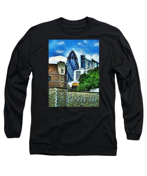 The London Gherkin  Long Sleeve T-Shirt by Steve Taylor