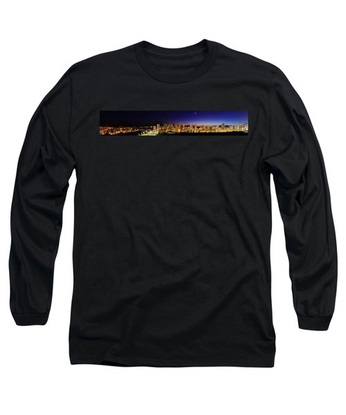 The Moon And Venus Over Honolulu Long Sleeve T-Shirt