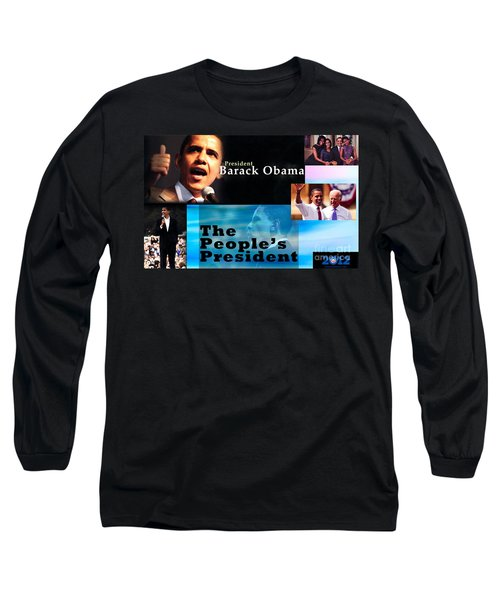 The People's President Long Sleeve T-Shirt by Terry Wallace